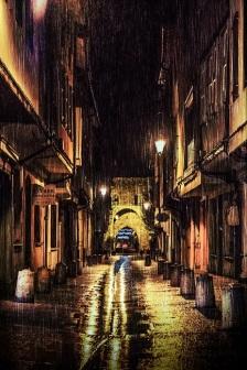 rainy street s