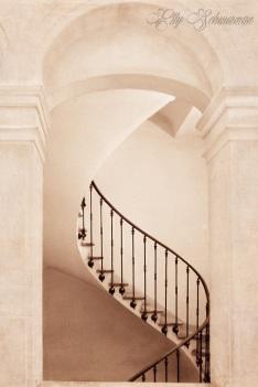 white stairs s