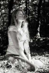girl in woods s