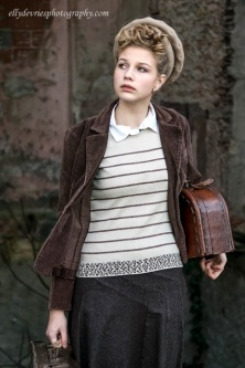 young girl in wartime