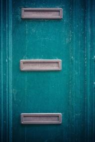 letter boxes in door
