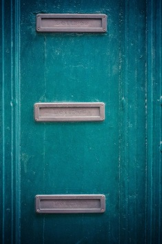letter boxes in door