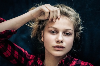 young girl in checkered blouse s (4)
