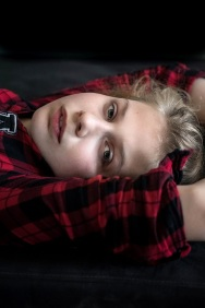 young girl in checkered blouse s (5)