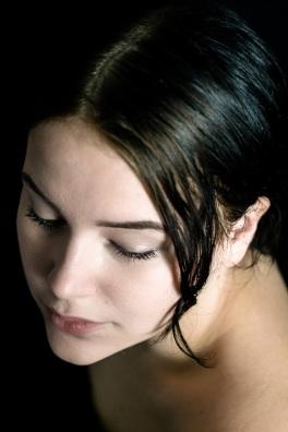 headshot young girl